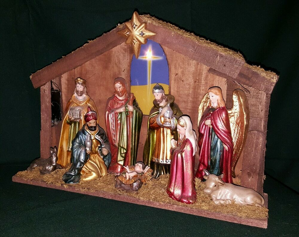 nativity scene vintage ebay