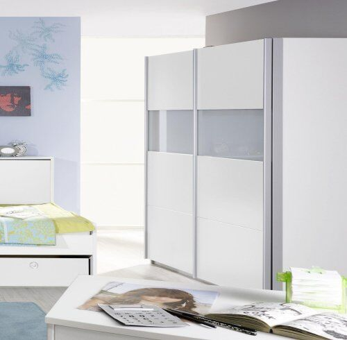 schwebet renschrank 2 trg b 136 cm schrank jugendzimmer chica 5 weiss neu ebay. Black Bedroom Furniture Sets. Home Design Ideas