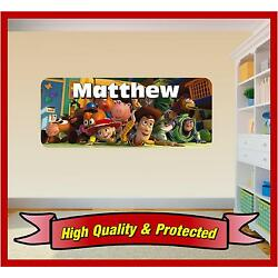 Toy Story Wall Print - Personalised Vinyl Sticker Decal Childrens Bedroom Boys