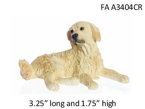 Cream Colored Golden Retriever Dog - 1:12 Scale Dollhouse ...