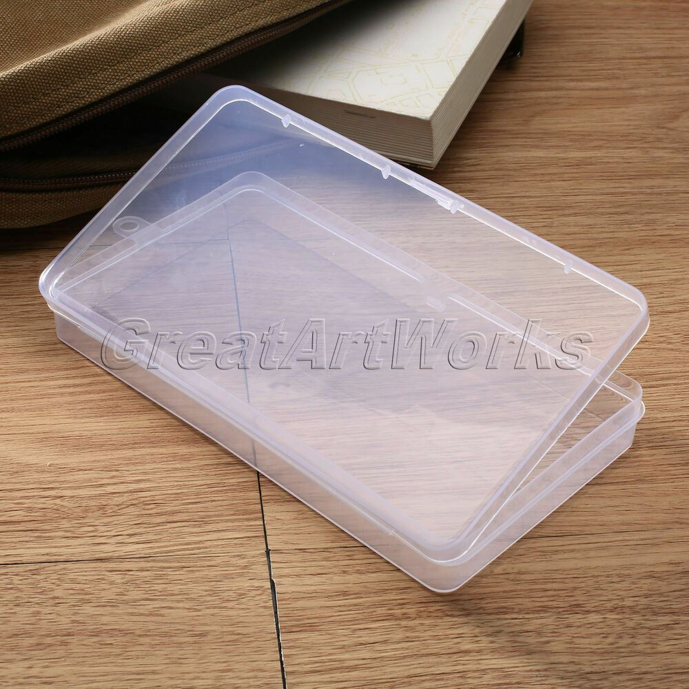 Plastic Clear Storage Box Craft Jewelry Bead Collection