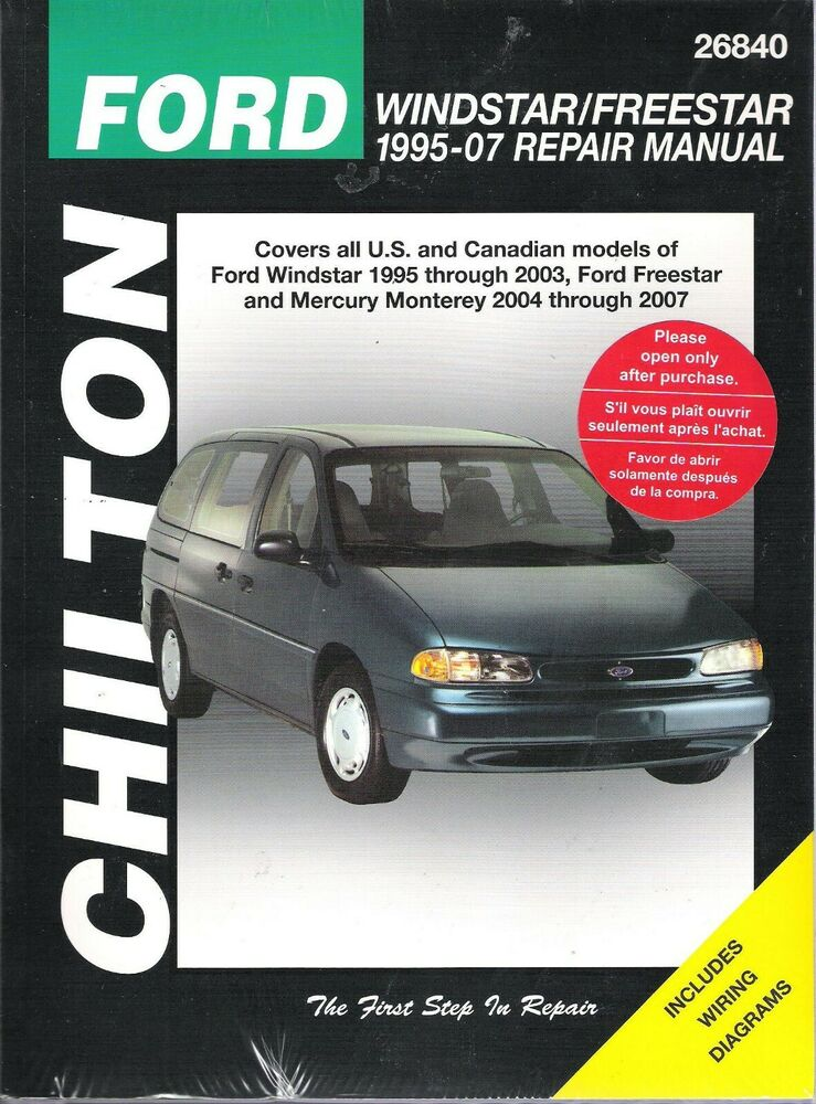 1995 1996 1997 1998 ford windstar chilton repair service. Black Bedroom Furniture Sets. Home Design Ideas