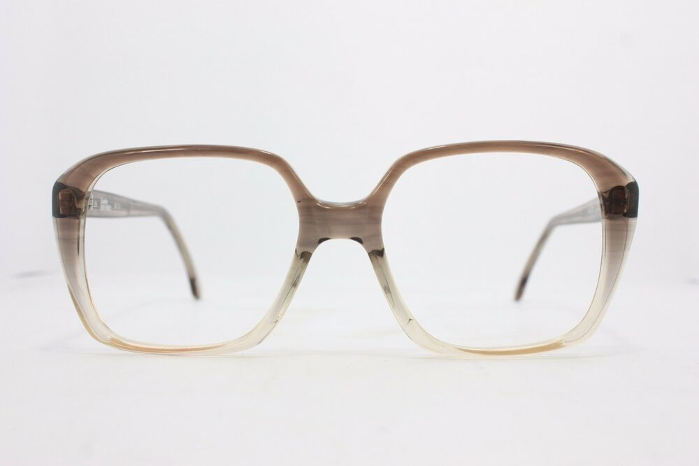 8485fc0b404 Licefa Record Vintage Eyeglasses Eyewear HANDMADE in W-Germany Grey 56mm  KM29