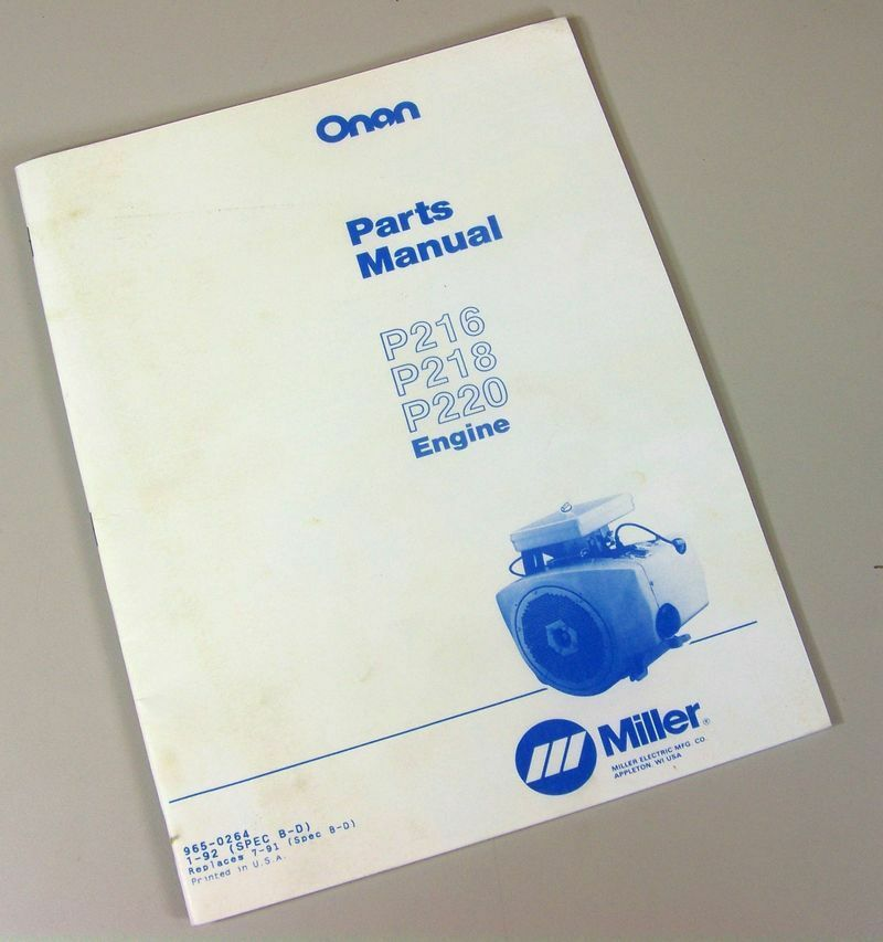 Onan mcgba parts manual