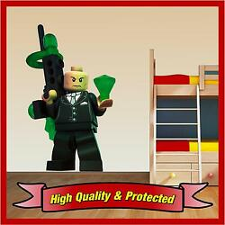 Lego Lex Luther - Superman Wall Printed Vinyl Sticker Decal Childrens Bedroom