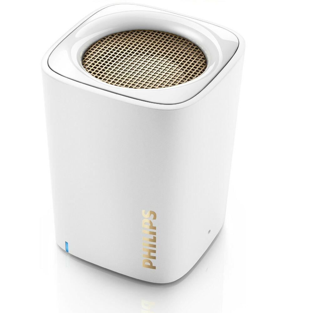 Philips BT100W Wireless Portable Speaker Rechargeable Bluetooth BT100 White