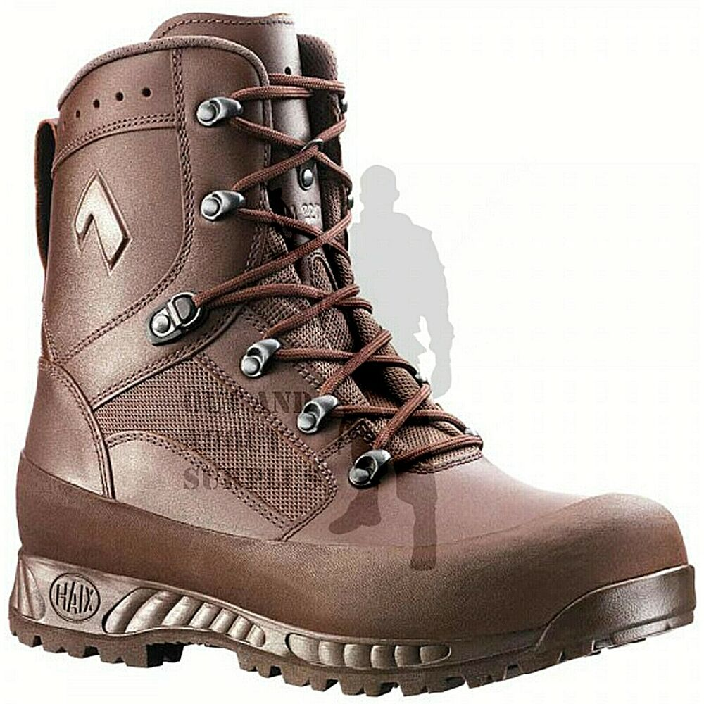 Details about Mens HAIX Combat High Liability Boots British Army Issue Brown  Leather Cadet 87b18ed4044