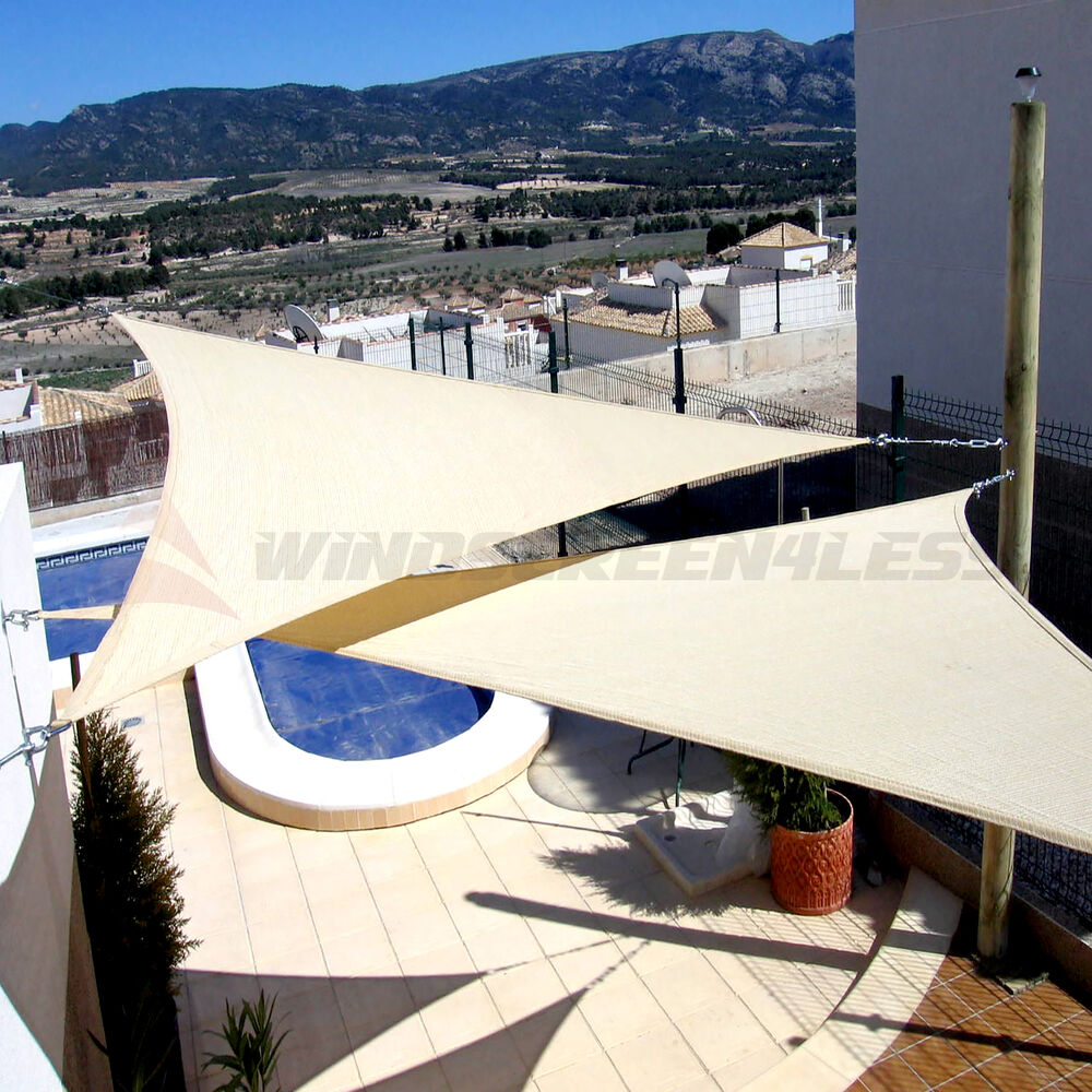 13 X13 X13 Triangle Sun Shade Sail Fabric Garden Outdoor