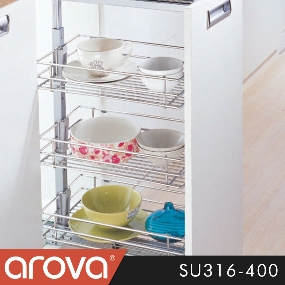 kitchen cabinet wire shelving pull out pantry organiser kitchen base storage wire basket 5867