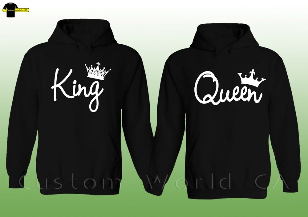 couple hoodie king and queen his and hers new design. Black Bedroom Furniture Sets. Home Design Ideas