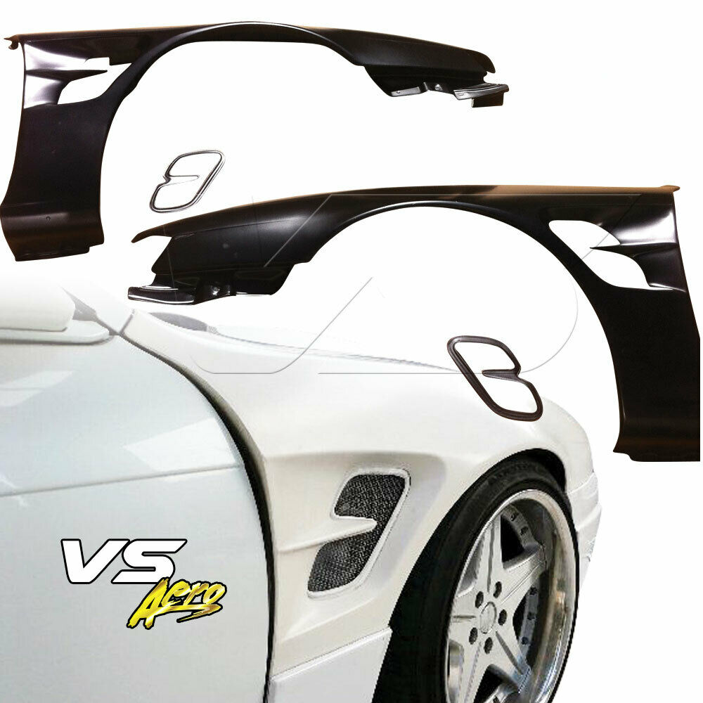 VSaero FRP SMAD Wide Body 30mm Fenders (front) For Nissan