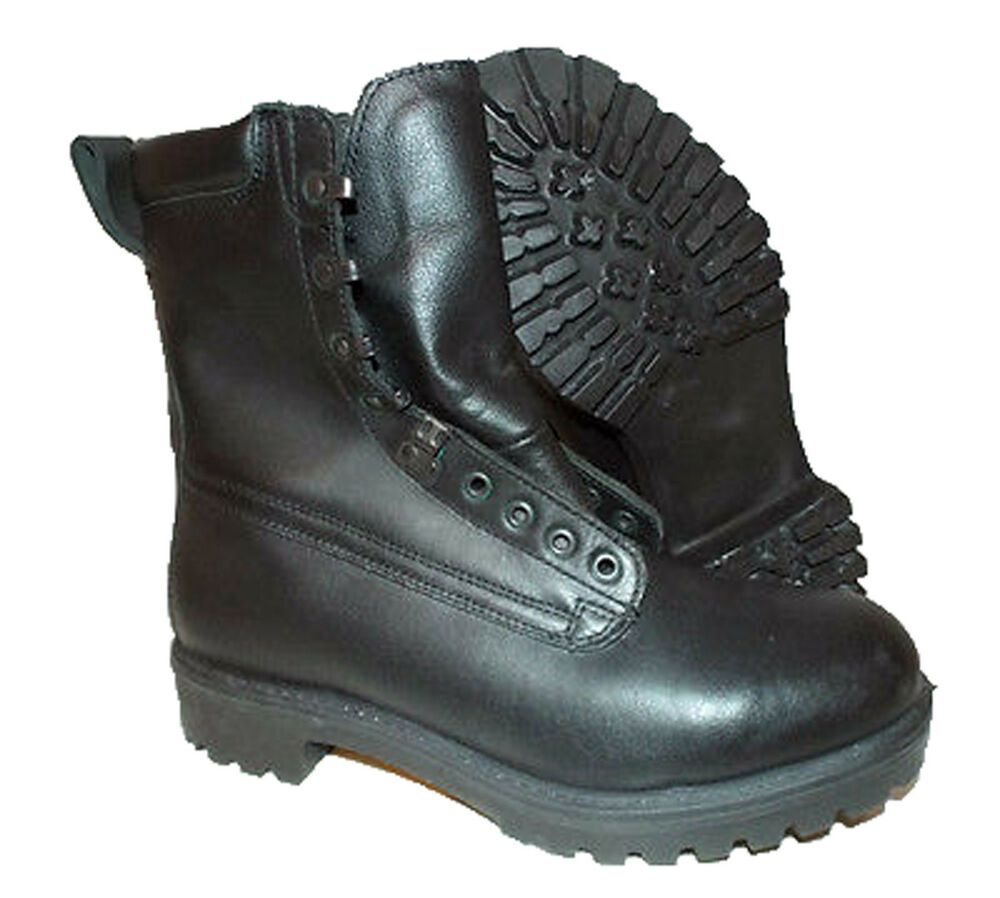 British Army Pro Boots Surplus Goretex Black Leather ...