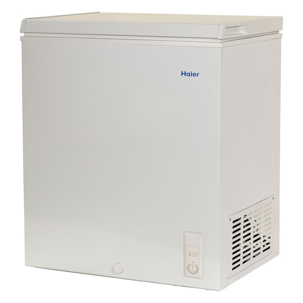 haier chest deep freezer 5 0 cu ft small size compact dorm
