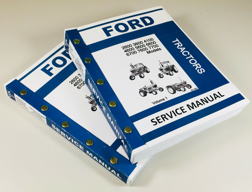 Ford 5600 6600 6700 7600 7700 Tractor Service Manual