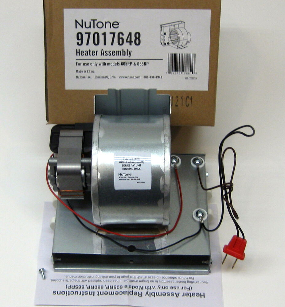Broan nutone motor 990805936 and heater assembly for Nutone ls80 replacement motor