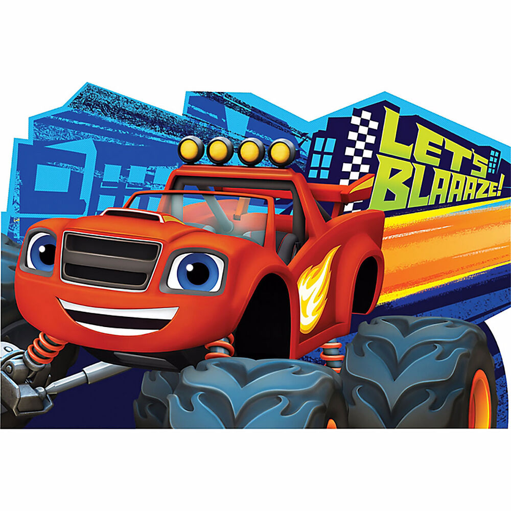 Details About Blaze And The Monster Machines Postcard Invitations Birthday Party Decorations