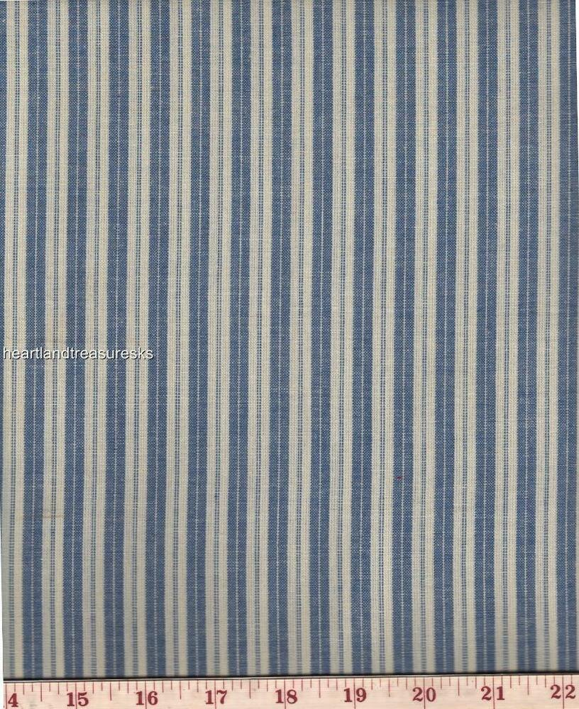Dunroven house h 707pb homespun providence blue ticking for Ticking fabric