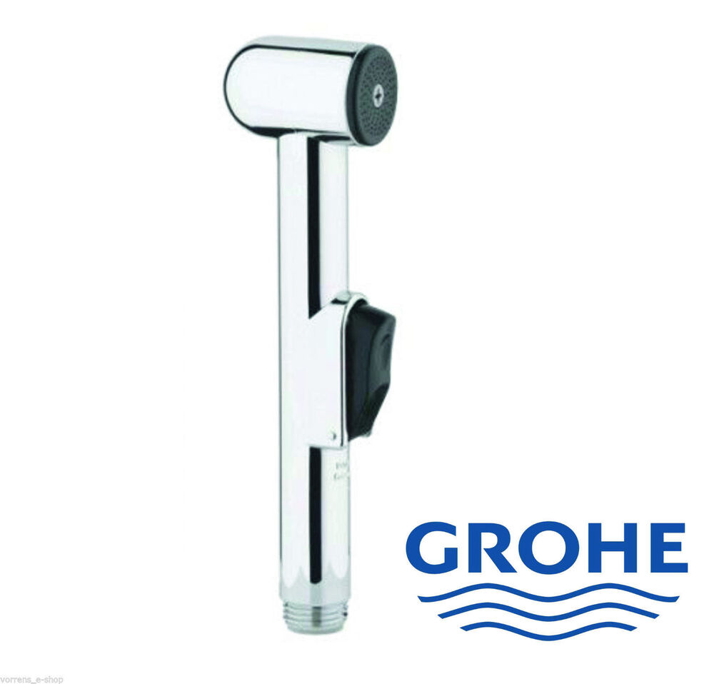 grohe 28343000 trigger spray bidet handheld shower sprayer chrome handset ebay. Black Bedroom Furniture Sets. Home Design Ideas