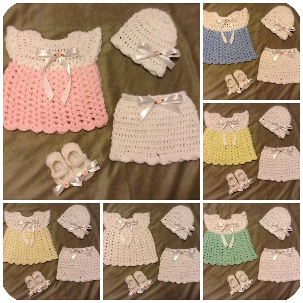 Baby Gift Set Tutorial : Handmade crochet knit baby girl layette coming home outfit