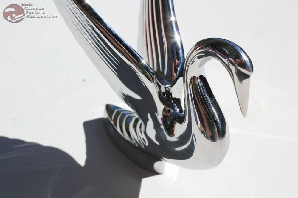 Chrome Swan Novelty Hood Ornament Custom Chevy Car Truck Hot Rat Rod Pickup