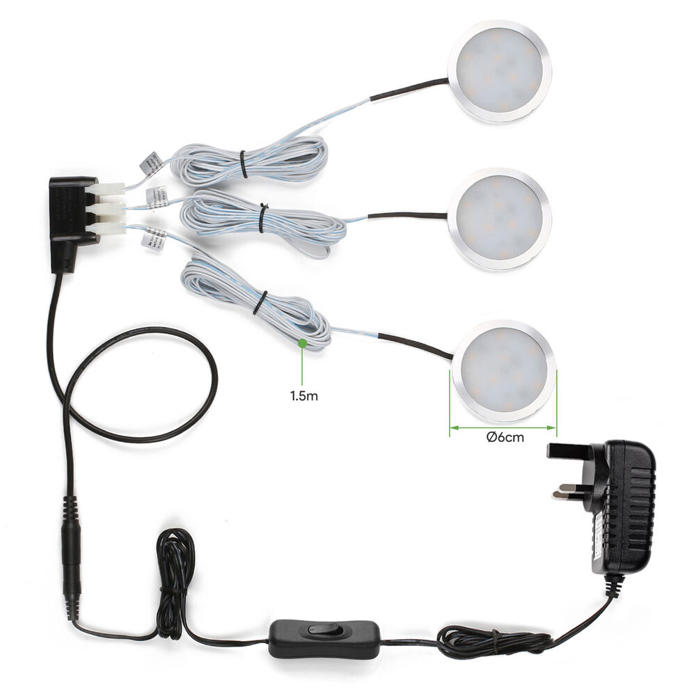 2 Watt 12 Volt Led Round Cabinet Light Fitting Kits Cool: 6W 510lm LED Under Cabinet Lighting Kit Lights Warm
