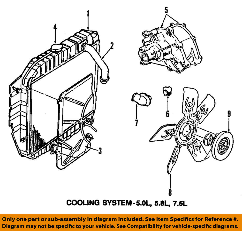 4 0 Ohv Cooling System Diagram Electrical Wiring Diagrams For Cars Ford Oem Radiator Cap E5tz8100a Ebay 2003 Taurus