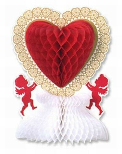 Valentine 39 S Day Vintage Styled Cupid Heart Centerpiece