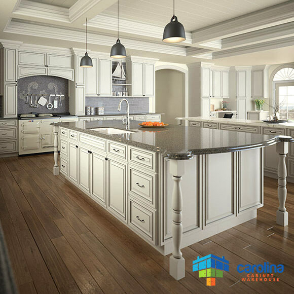 Antique white kitchen cabinets rta cabinets 10x10 wood for Antique white kitchen cabinets