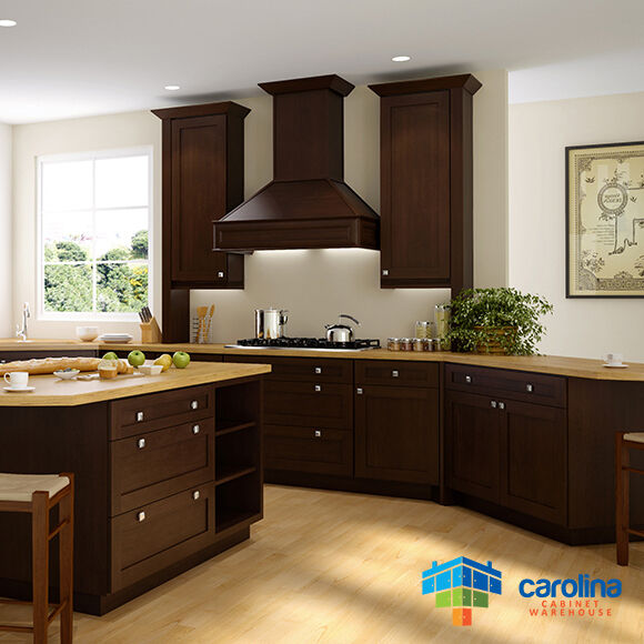 All solid wood kitchen cabinets brown shaker style for All wood kitchen cabinets