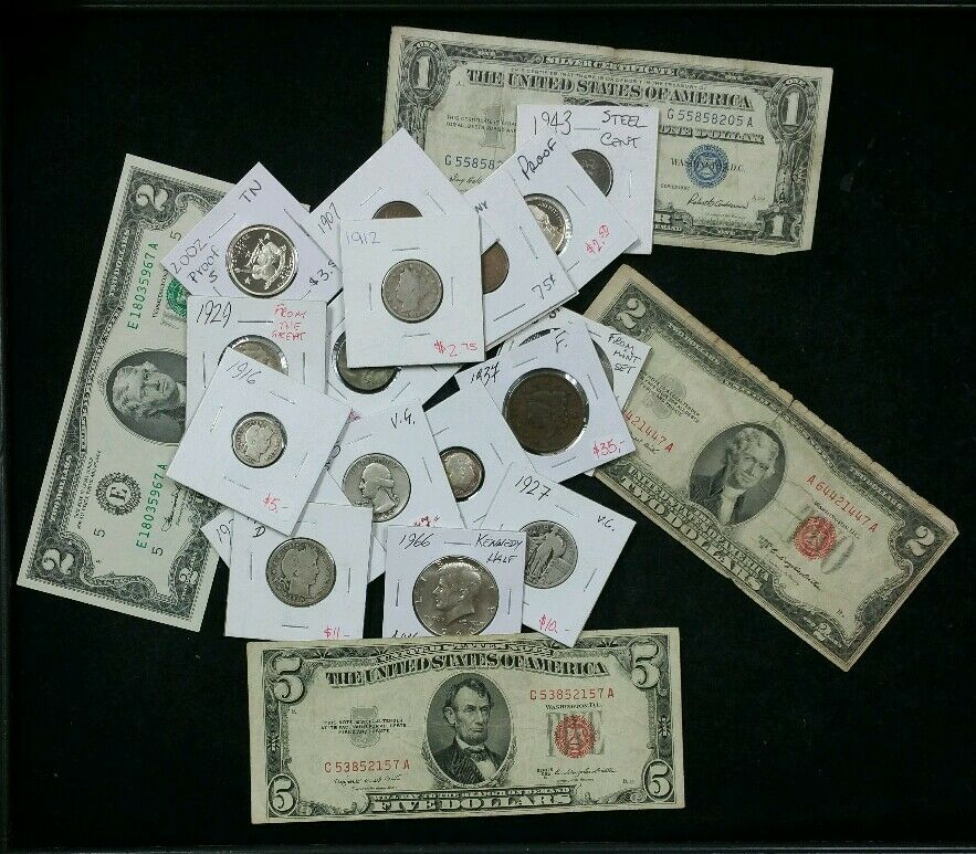 U S Old Coins Estate Large Collection With Over 20 Coins