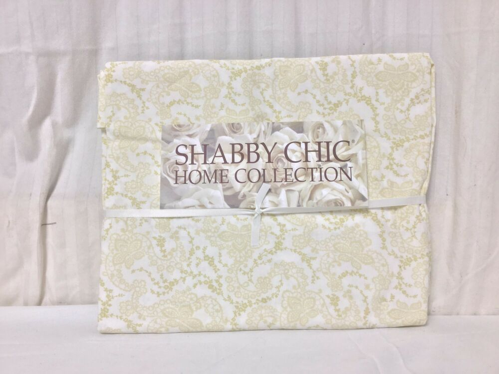 Rachel Ashwell Shabby Chic Pillow Cases : 2 Shabby Chic home standard Envelope Yellow Paisley Pillowcases Rachel Ashwell eBay