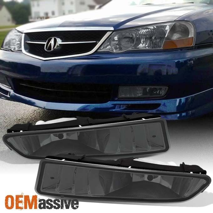 Smoked 1999-2003 Acura TL Replacement Bumper Fog Lights