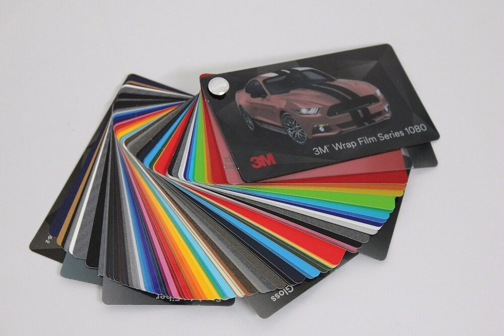 3m 1080 Vinyl Wrap Color Sample Swatch Booklet Ebay