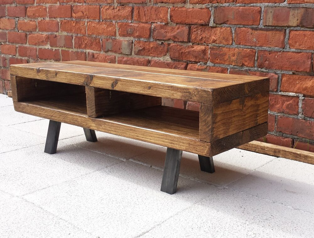 Tv Stand Contemporary Rustic Industrial Tv Unit Or Coffee Table Ebay