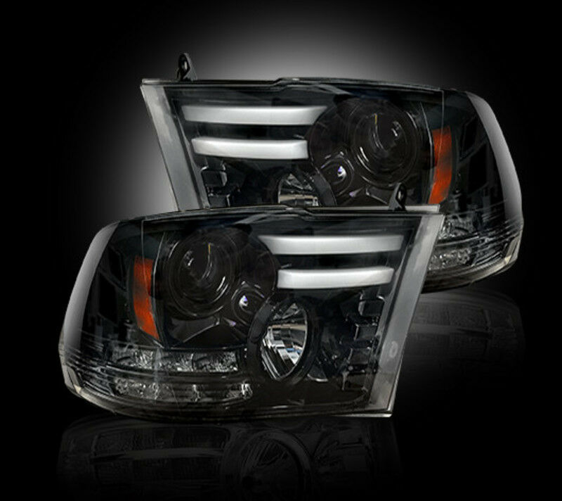 recon smoked projector headlights 264276bkc 2013 2016. Black Bedroom Furniture Sets. Home Design Ideas