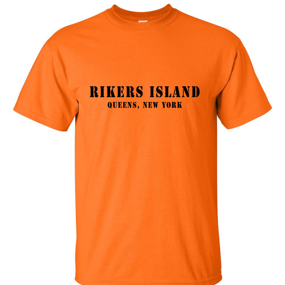 Rikers island t shirt funny humor t shirt queens ny ebay for Custom t shirts in queens ny