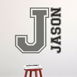 Varsity College Style Name Letter Wall Sticker Decal Lettering Personalised