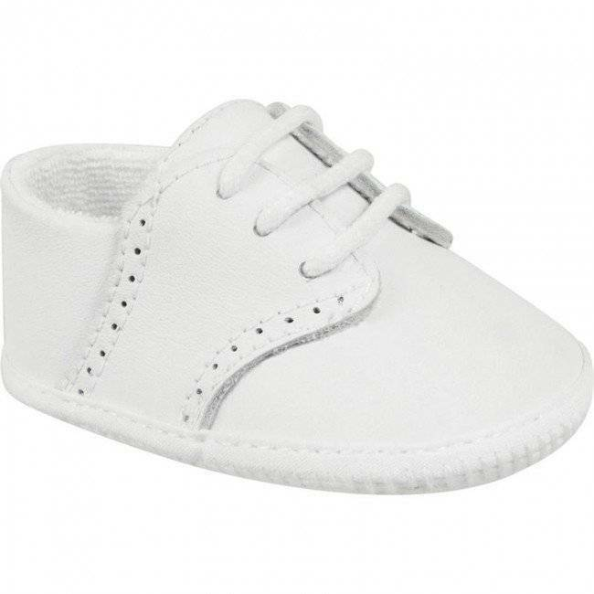 Baby Deer Boys White Leather Saddle Oxford Shoes Baby Size ...