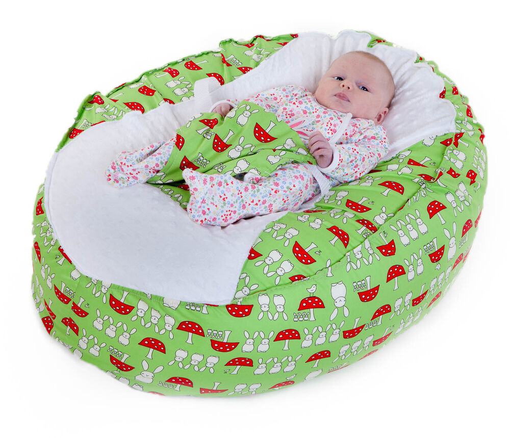 Baby Bean Bag Chair New Unique Design Lime Bunnies