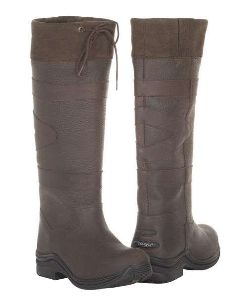 Toggi Childs Ravine Waterproof Long Country Boots Leather