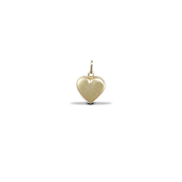 Solid 9ct Yellow Gold Small Love Heart Small Hollow ...