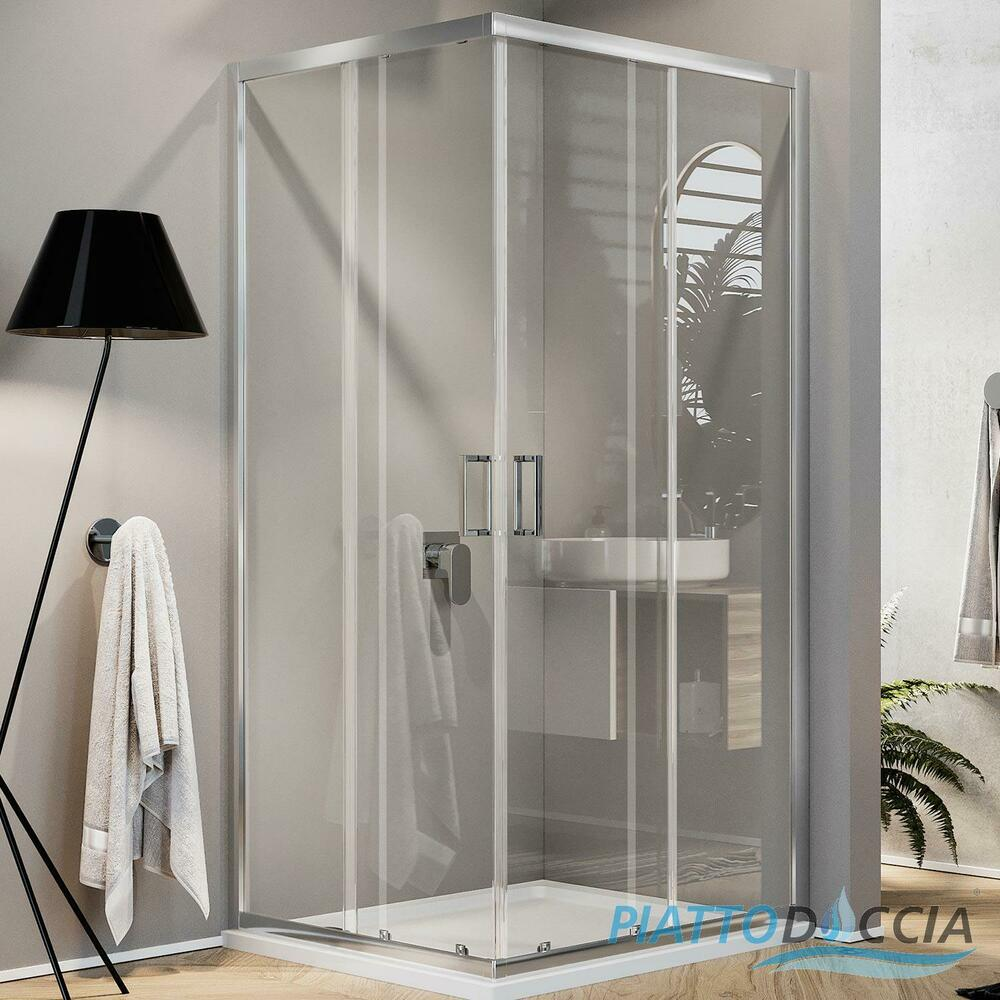 Dusche Schiebet?r Eckeinstieg : Corner Shower Sliding Glass Door