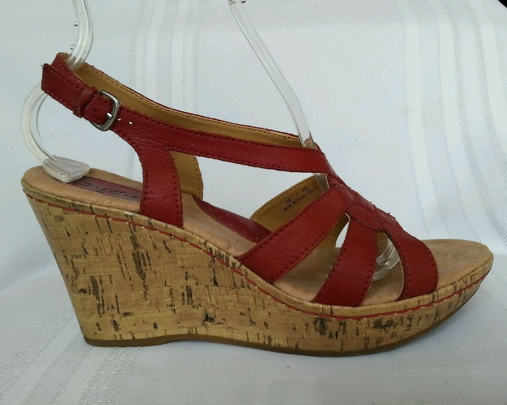 B O C Born Concept Women S Sandals Wedge Heel Size 10 M