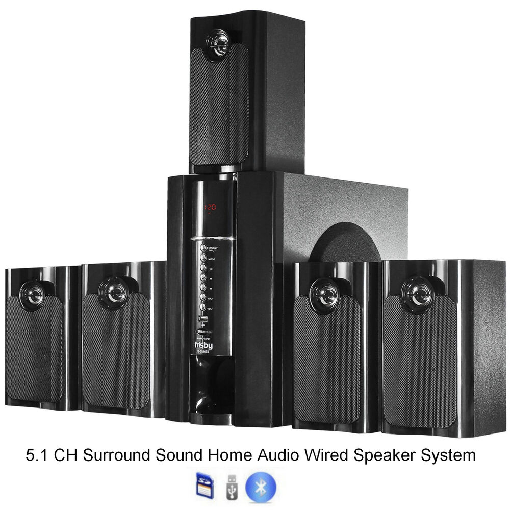 frisby fs5020bt 800watt bluetooth 5 1 surround sound home. Black Bedroom Furniture Sets. Home Design Ideas