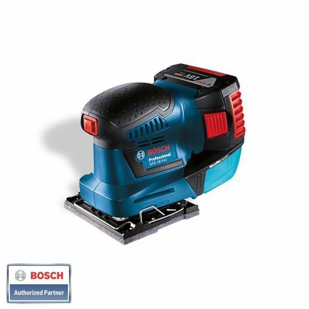bosch gss 18v li professional orbital sander bare tool solo ebay. Black Bedroom Furniture Sets. Home Design Ideas