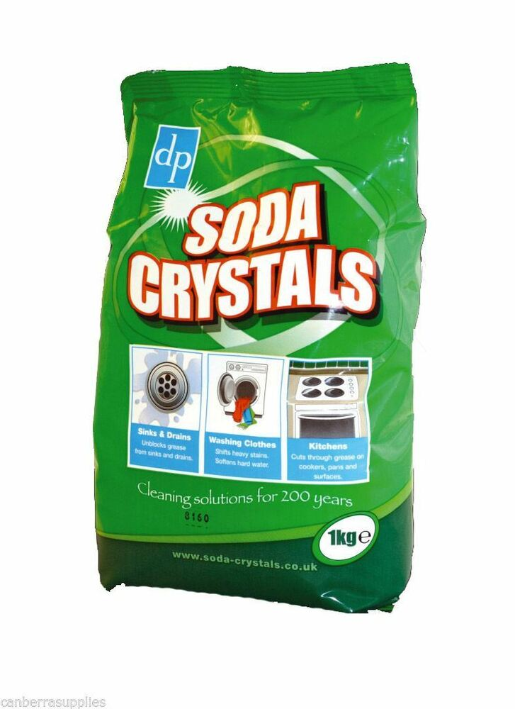 soda laundry washing crystals 1kg stain remover sinks drains clothing kitchens ebay. Black Bedroom Furniture Sets. Home Design Ideas