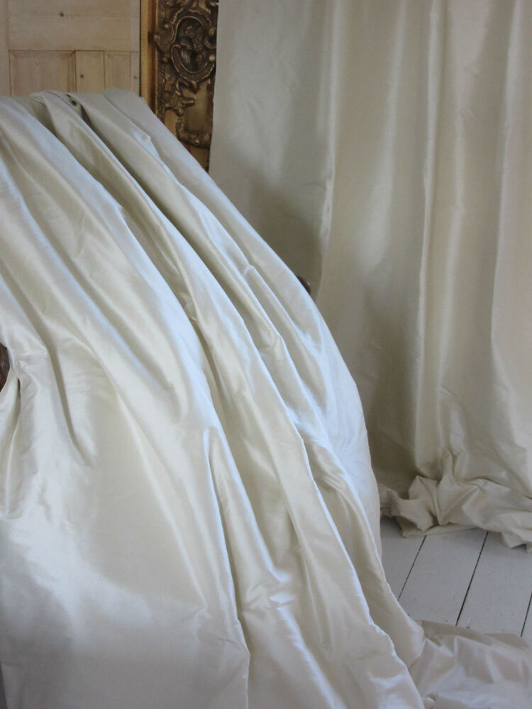 opulent cream ivory 100 silk thermal blackout curtains