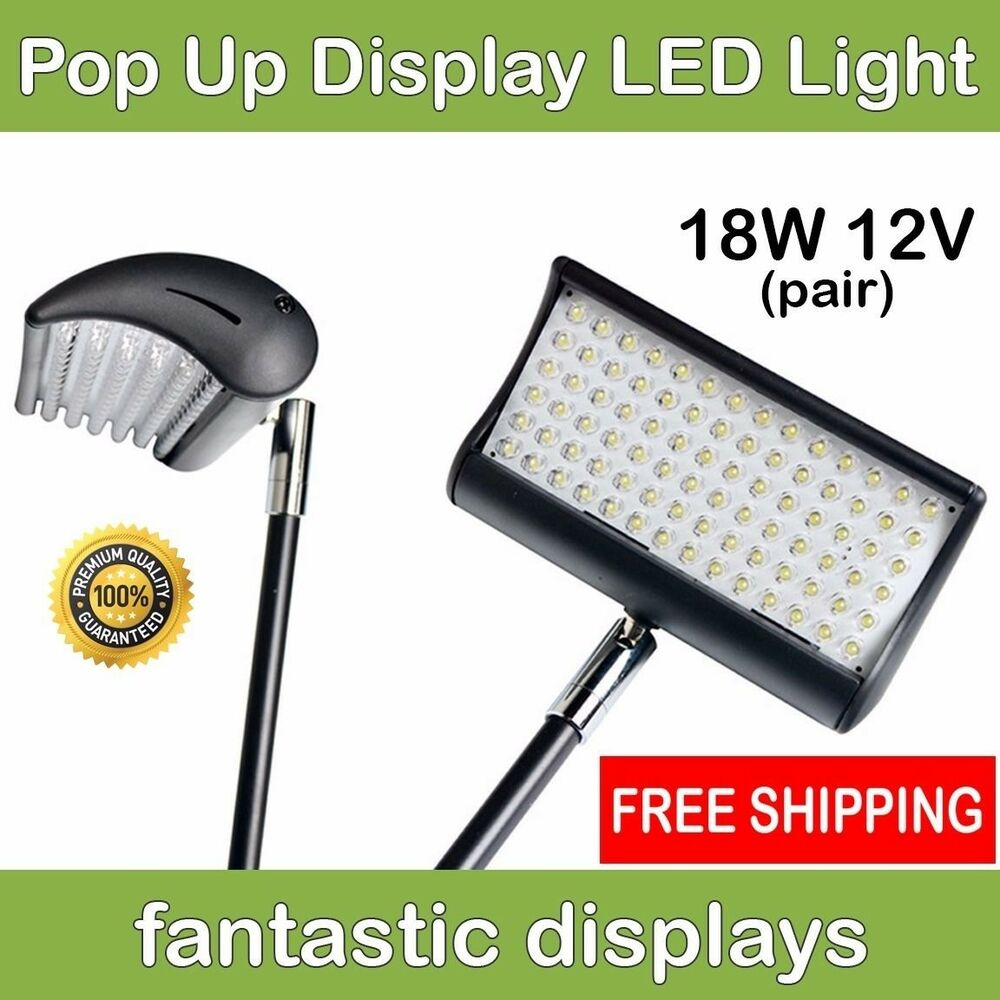 led light spotlight for fabric pop up tradeshow displays. Black Bedroom Furniture Sets. Home Design Ideas