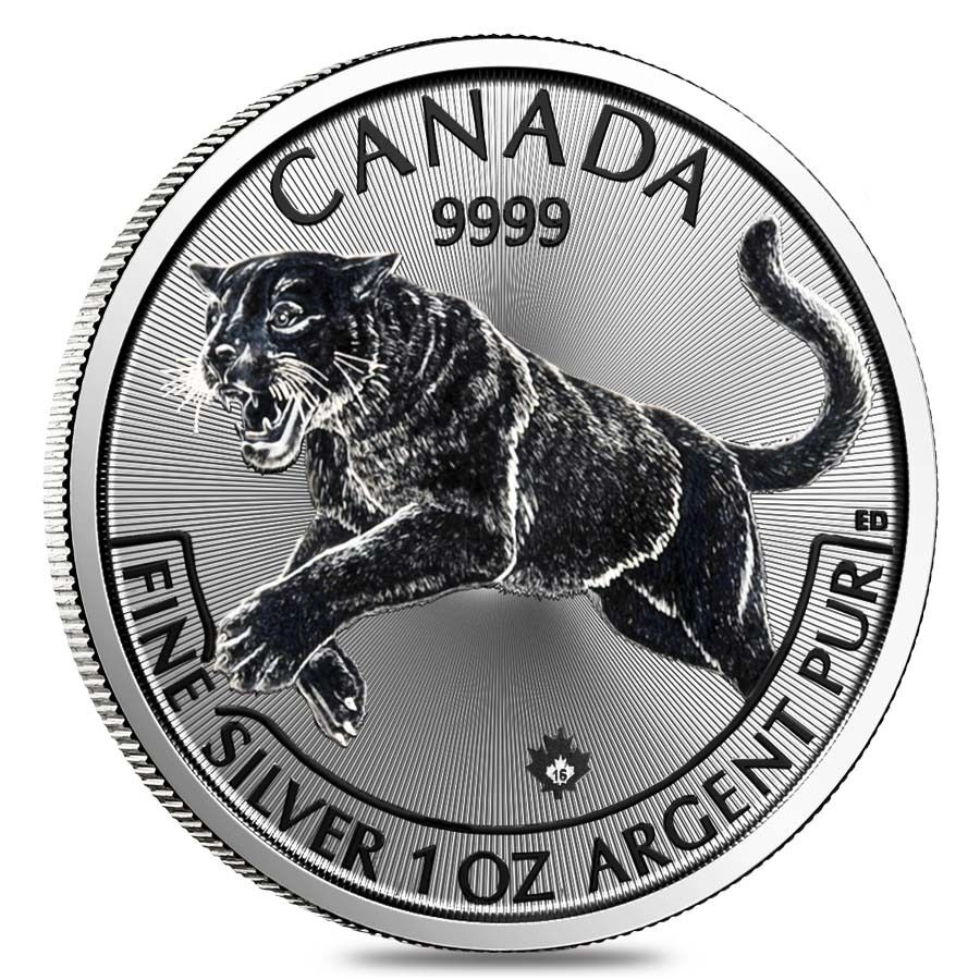 2016 1 Oz Canadian Silver Cougar Predator Series 5 Coin