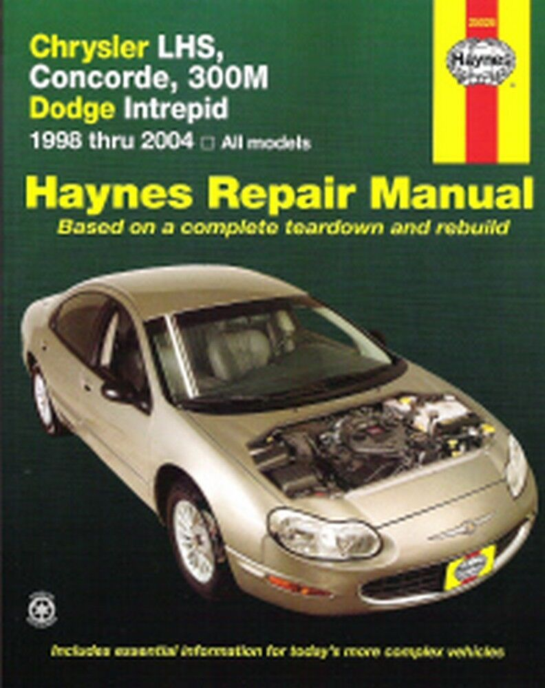 1998-2004 LHS Concorde 300M Intrepid Haynes Repair Service Shop Manual Book  7322 38345250262 | eBay